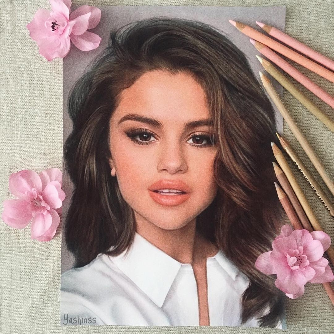 05-Selena-Gomez-Vlad-Yashin-Realistic-Color-Pencil-Portraits-of-Celebrities-www-designstack-co