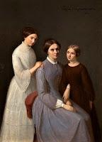 Celina Mickiewiczowa z córkami Marią i Heleną