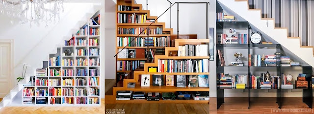 Biblioteca na decoração - Aproveitando espaços