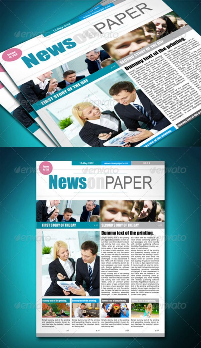 Best print newspaper templates in adobe indesign photoshop newspaper template stylish indesign indd pronofoot35fo Gallery