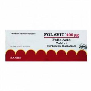 Folavit Tablet: Asam Folat 400 mcg, Vitamin Untuk Ibu Hamil