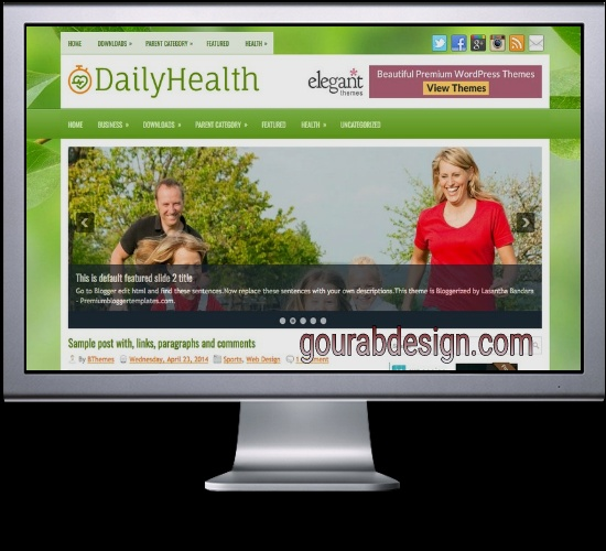 Daily Health fitness blogger template