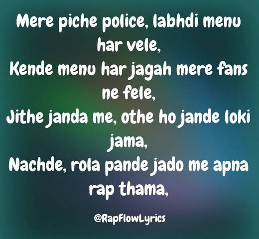 Punjabi Rap Quotes - Rap Flow Lyrics | Fame | Limelight