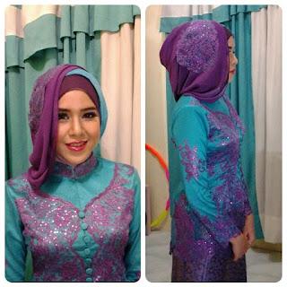 kreasi hijab untuk kebaya