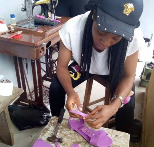 Joblessness Inspired Me To Be A Cobbler – Nigerian Lady