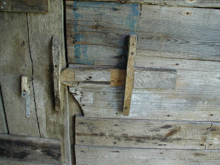 Barn door latch detail at the Dan-Lawson place.