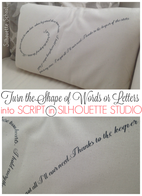 Silhouette Studio, turn shape of words or letters into script, Silhouette tutorial