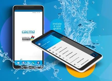 Foto do Smartphone com o aplicativo Caema Mobile instalado