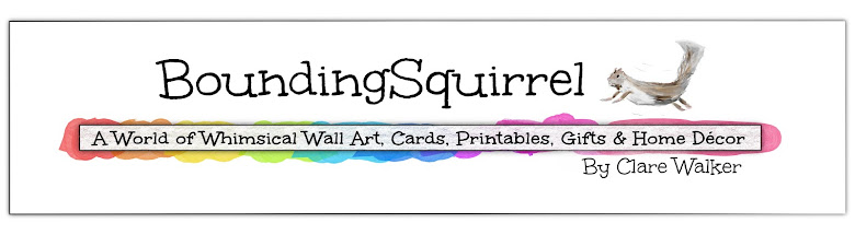 BoundingSquirrel-Whimsical Wall Art, Greeting Cards, Printables, Gifts and Home Décor