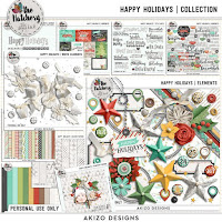 Happy Holidays by Akizo Designs