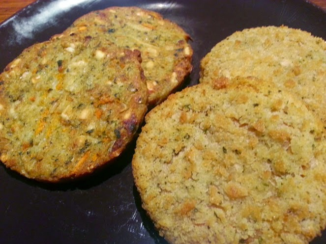 Goodlife frozen vegetarian burgers range cooked