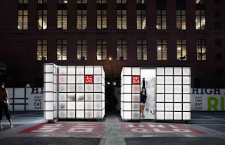 Green Pear Diaries, interiorismo, pop up store, Uniqlo, Uniqlo Cubes, Nueva York
