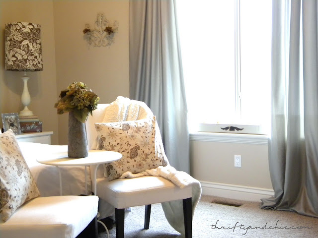 The Living Room, Then and Now from Thrifty Decor Chick  Thrifty Bedroom Ideas