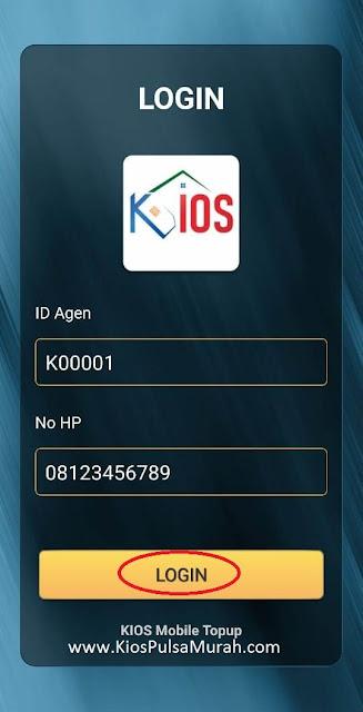 silahkan masukkan ID Agen dan No HP Anda yang terdaftar di server KiosPulsaMurah.com