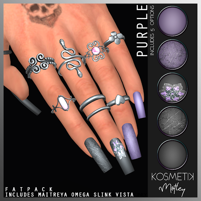 .kosmetik Nails Motley Purple