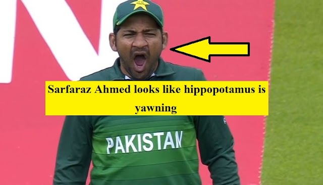 Sarfaraz Ahmed looks like hippopotamus is yawning