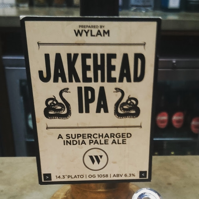 Northumberland Craft Beer Review: Jakehead IPA from Wylam real ale pump clip