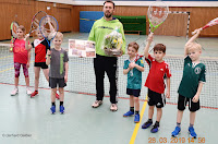 Abschied beim Tennis in Hohenaspe von Trainer Martin Kwiatkowski