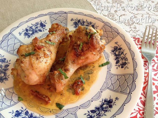Pollo Asado con Salsa de Tomates Secados al Sol y Parmesano