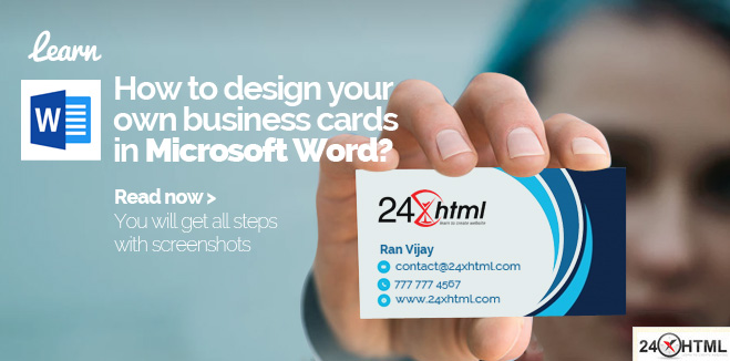 How to design your own business cards in Microsoft Word?