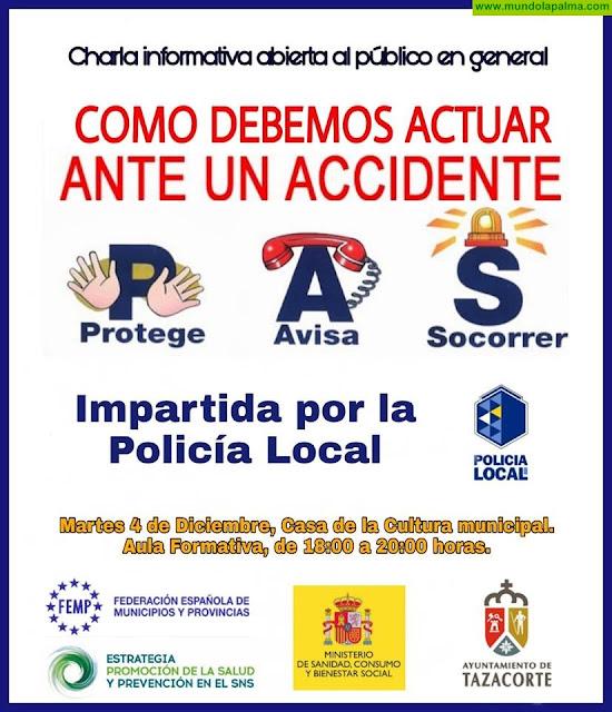 """Charla: """"Cómo debemos actuar ante un accidente"""" en Tazacorte"""