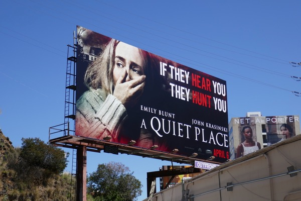 A Quiet Place film billboard