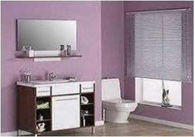Bathroom Purple color impression