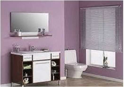 Bathroom Purple color impression