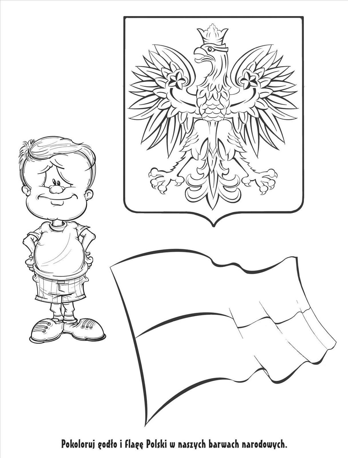 Symbole Polski Kolorowanki Najlepsze Kolorowanki Strony
