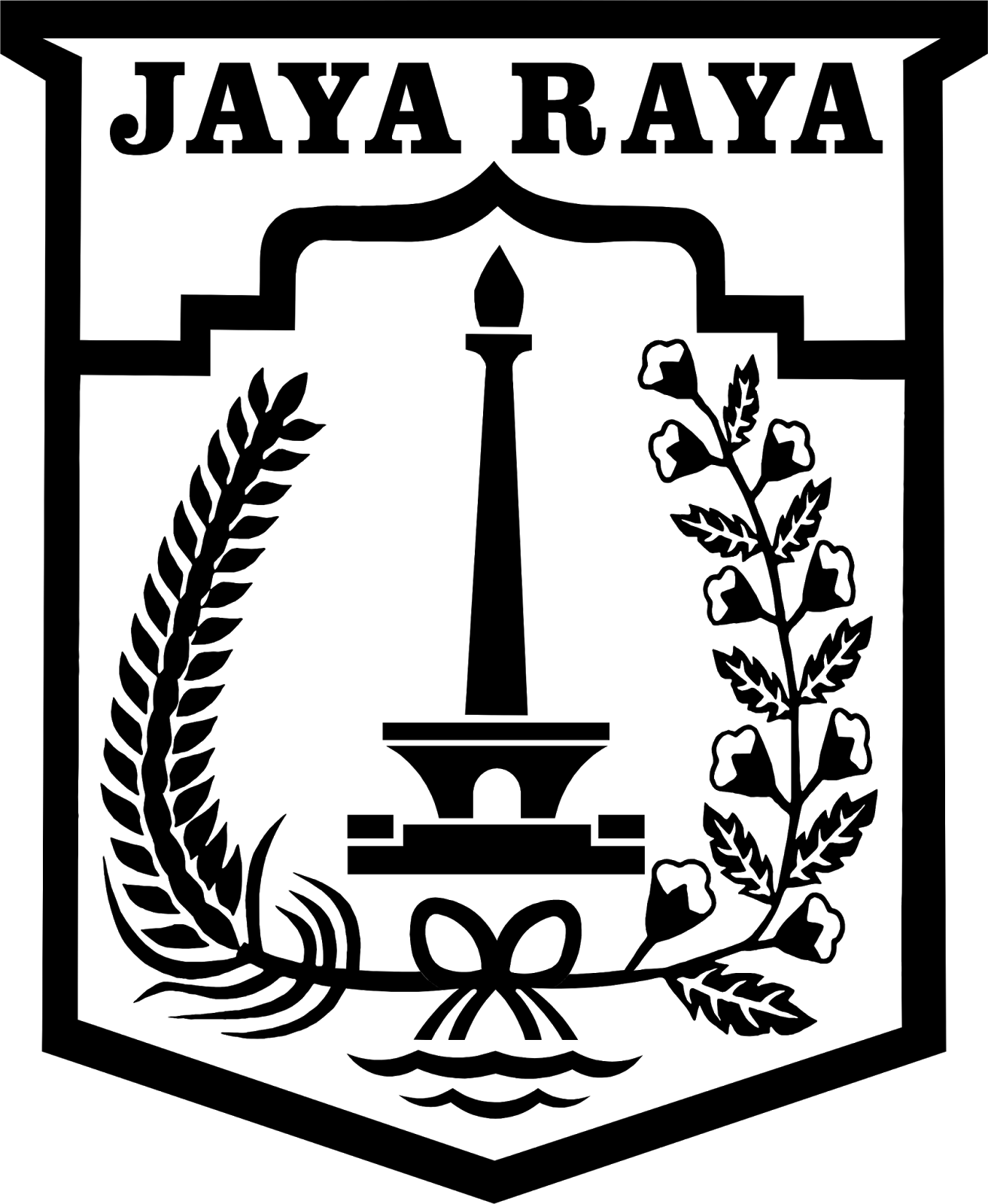 Desain Logo DKI Jakarta Hitam Putih PNG  Desain Grafis