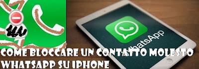 Bloccare contatto molesto WhatsApp su iPhone: tutorial