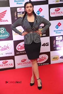 Actress Mannara Chopra Pictures at Mirchi Music Awards South 2015  0057.JPG