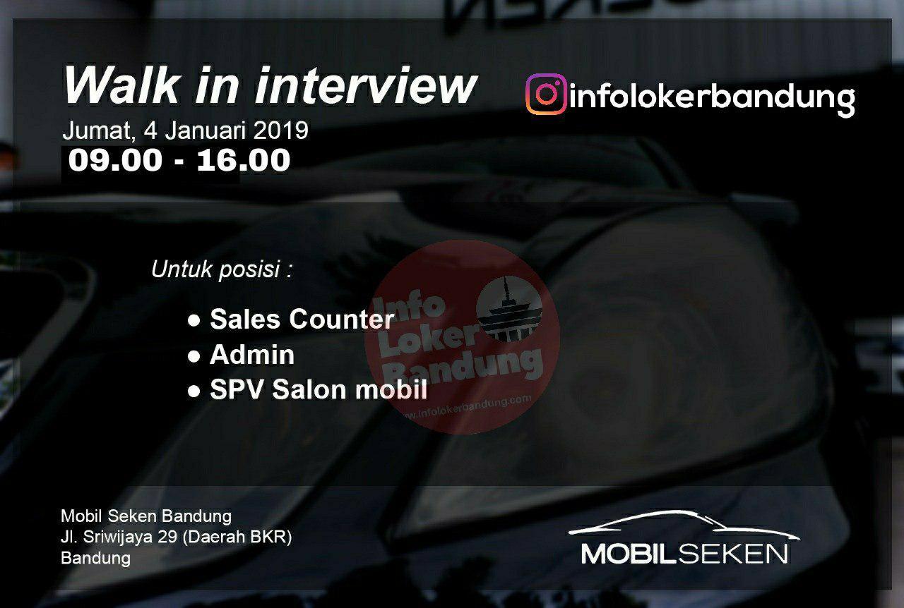 Lowongan Kerja Mobil Seken Bandung Januari 2019