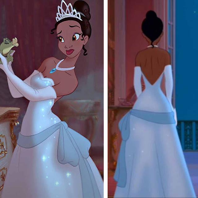 Vestido azul a princesa e o sapo