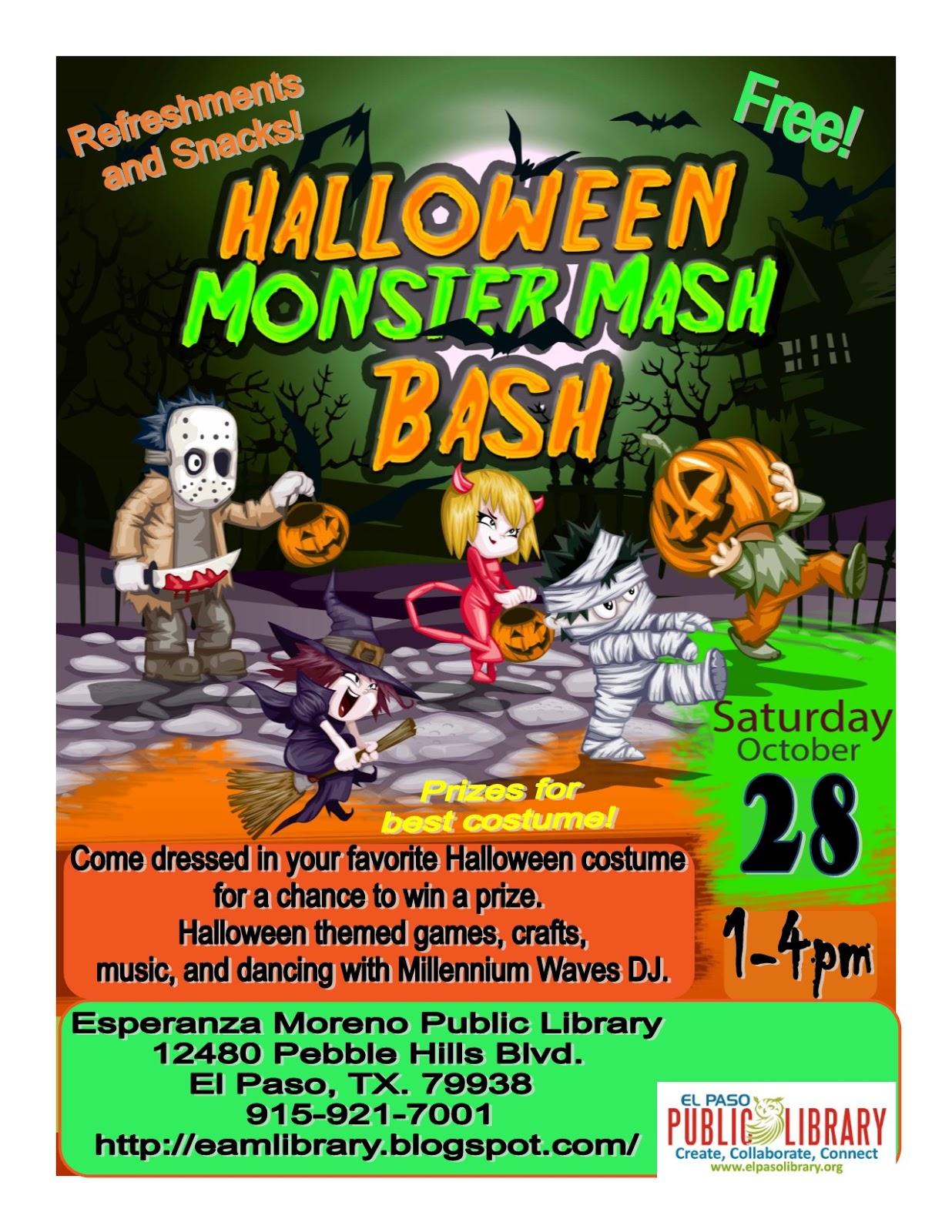 esperanza acosta moreno regional library: halloween monster mash bash