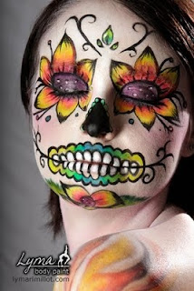 day of the dead makeup flowers