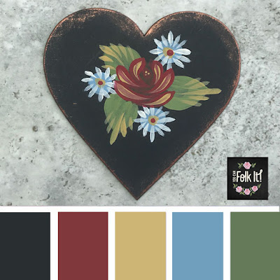 A classic colour palette inspired by the Canal boat art of England