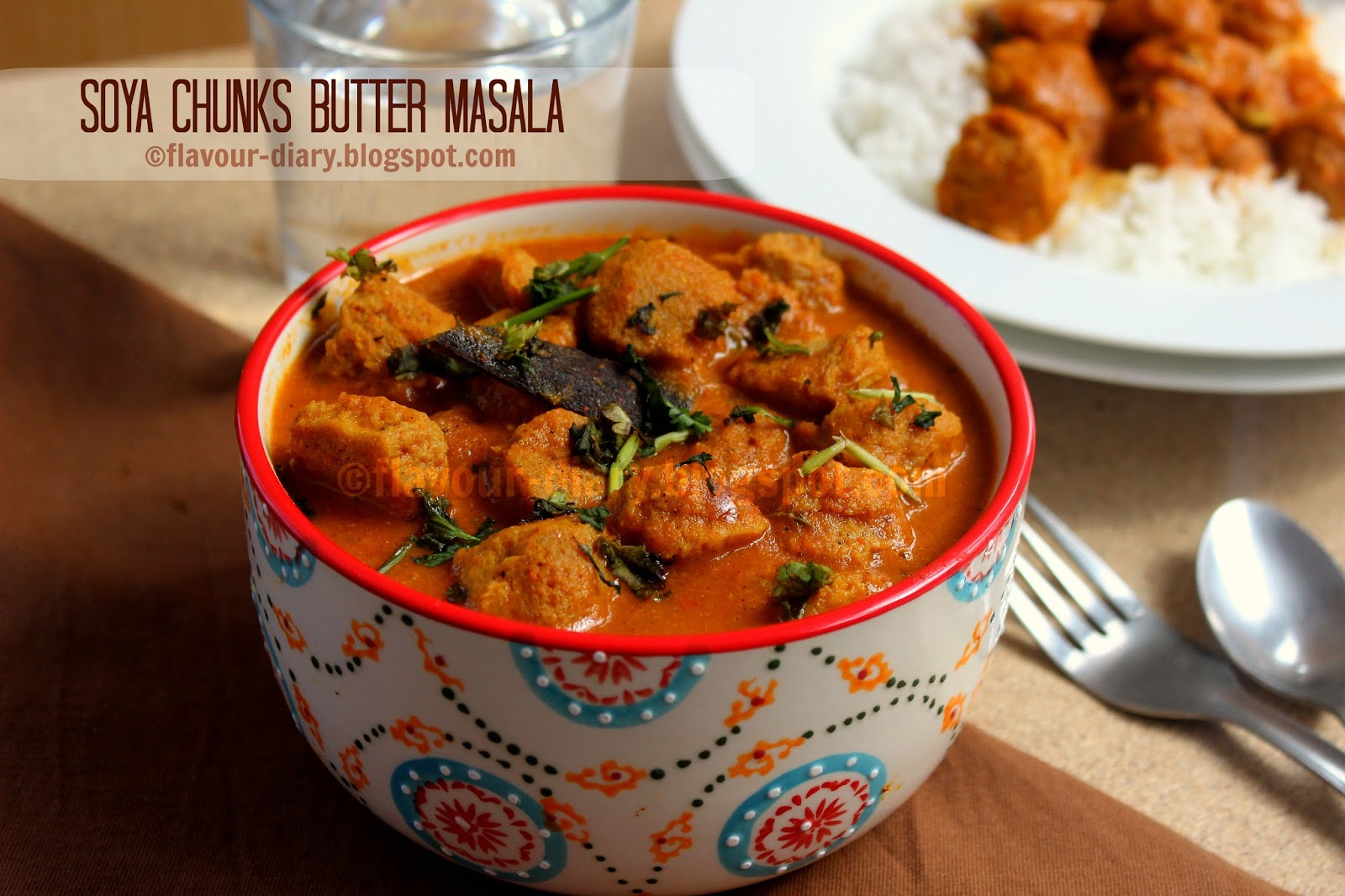 soya chunks butter masala curry