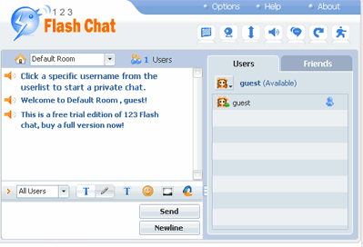 123 Flash Chat WordPress Plugin screenshot