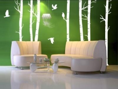 Rumah Minimalis Modern Dengan Menambahkan Ornamen Wallpaper