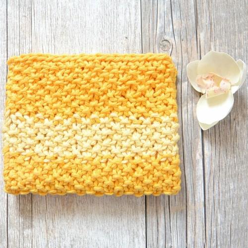 Easy Knit Waschloth Pattern