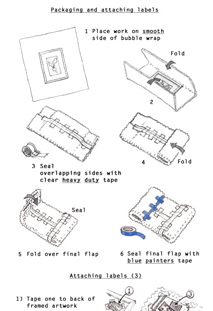NESBA Artists: Bubble Wrap Envelope Instructions
