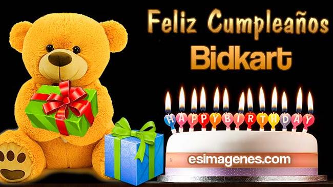 Feliz Cumpleaños Bidkart