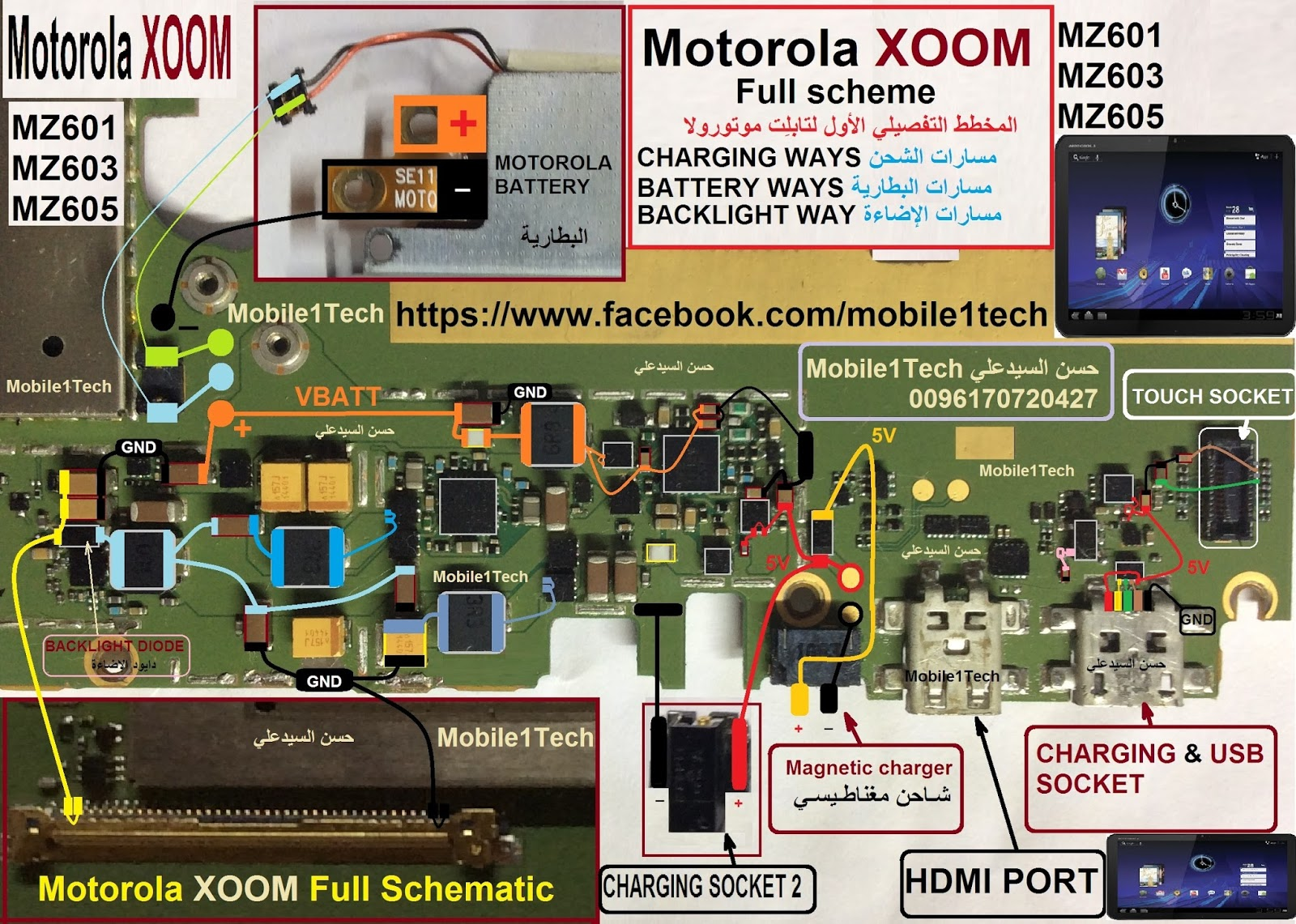 Motorola Xoom Mz601  Mz603  Mz605 Schematic