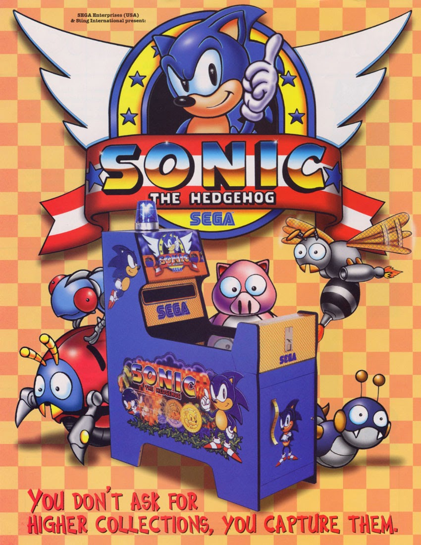 Sonic the hedgehog+arcade+game+portable+art+flyer