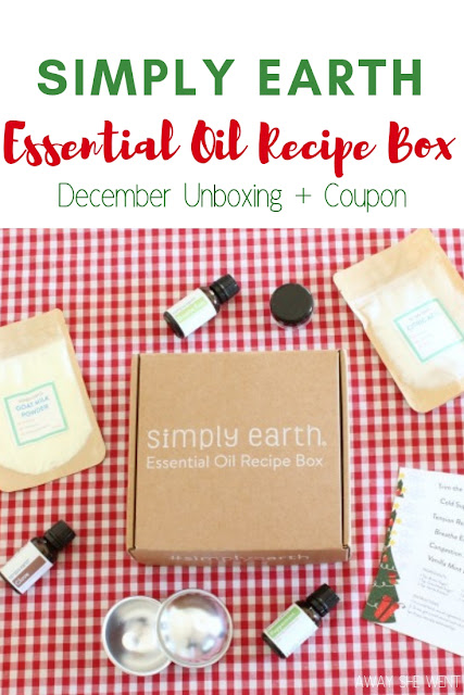 Simply Earth December Essential Oil Recipe Box + Coupon