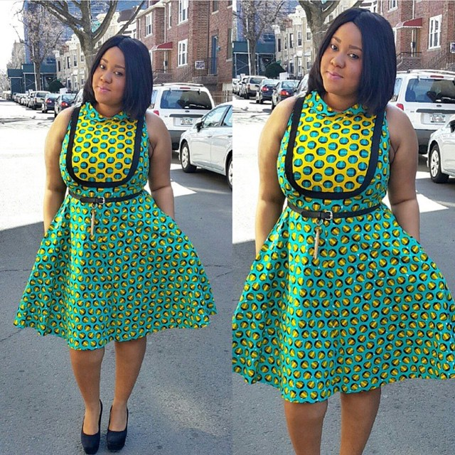 Latest Ankara Short Gown Styles 2015 : Simple And