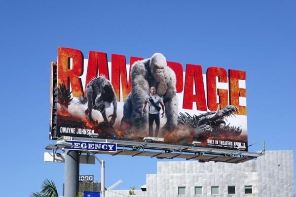 Rampage movie billboard