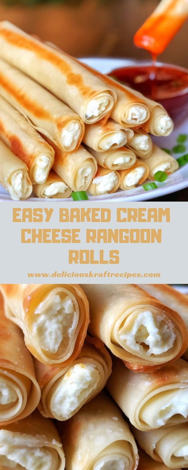 EASY BAKED CREAM CHEESE RANGOON ROLLS