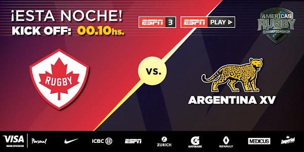 #ARC2019 Canadá - Argentina XV (en vivo, ARC, ESPN 3)